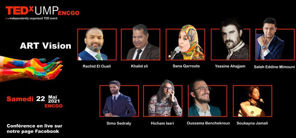 TEDx UMP -- ART VISION Conférence en live sur notre page FACEBOOK--  LE SAMEDI 22 MAI 2021